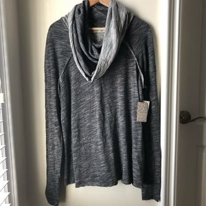 Free People Cowl Neck Sweater New With Tag